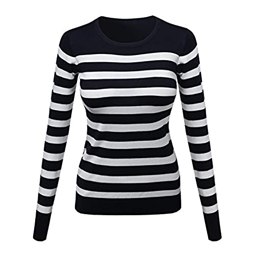 Women's Sizes Navy Blue Sweater: Amazon.com