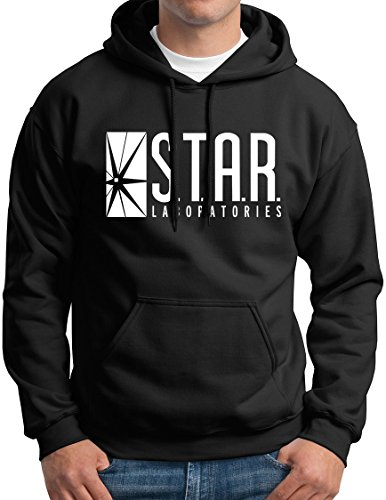 Star+Labs+Hoodie+Star+Laboratories+Hooded+Sweashirt+Gift+For+Men+Black+S