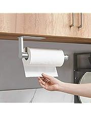 Jinhuaxin Keukenpapier handdoekhouder onder kast - toiletrolhouder wandmontage zelfklevend - Hanger handdoekrek voor badkamer