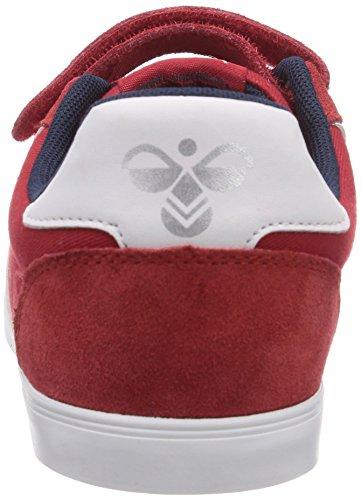 Hummel Sl Stadil Jr Leather Lo - Zapatillas de lona para niño Rosso