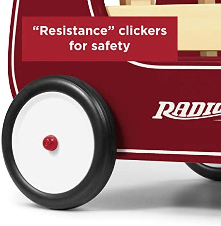 41uzjh1p YL. AC - Radio Flyer Classic Walker Wagon, Sit To Stand Toddler Toy, Wood Walker, Red, Model Number: 612s