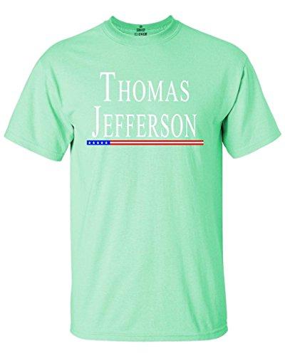 Jefferson Mint - Shop4Ever Thomas Jefferson T-shirt President Shirts Small Mint Green0