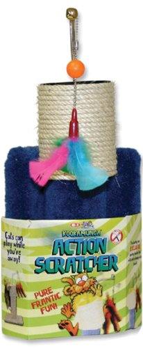 Firstrax Action Scratcher Post – Colors May Vary, My Pet Supplies
