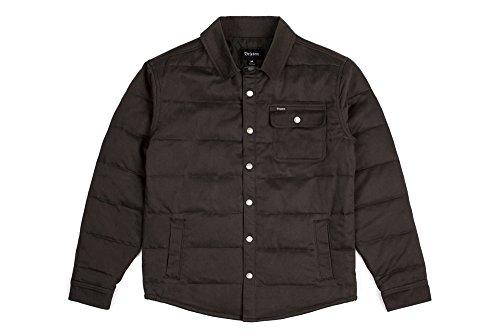 Brixton Men's Cass Jacket, Black/Black, (Quilted Shirt Jacket)