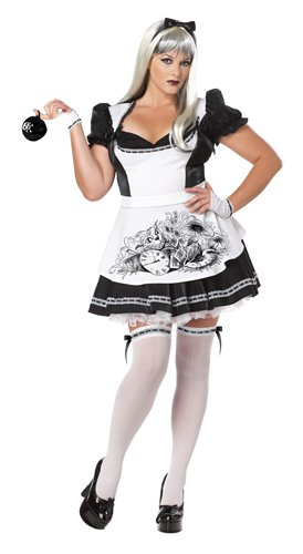 [California Costumes Women's Plus-Size Dark Alice Plus, Black/White, 3X] (Lady Reaper Adult Plus Size Costumes)