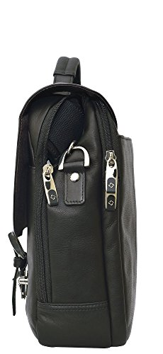Samsonite Colombian Leather Flapover Case (Black/Chrome) by Samsonite (Image #2)