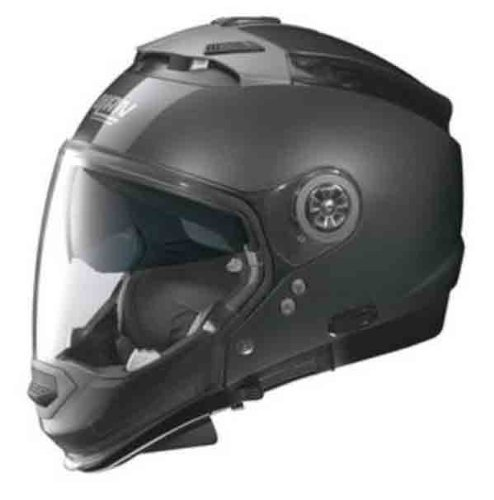 Nolan N44 Trilogy Solid Helmet (Black Graphite, Small)