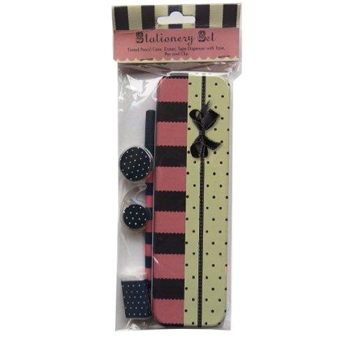 Price comparison product image Stationery Set - Pencil Tin,  Eraser,  Tape & Dispenser