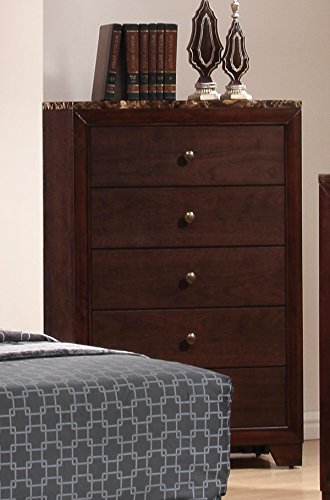 Coaster Home Furnishings 200425 Casual Contemporary Chest, Walnut Walnut Antique Dresser