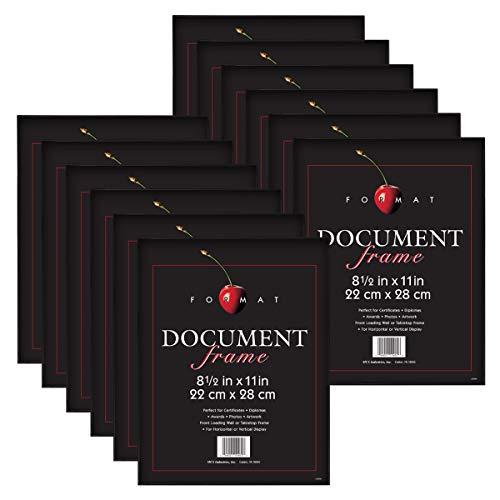 - MCS 8.5x11 Inch Format Frame 12-Pack, Black (65640) (Renewed)