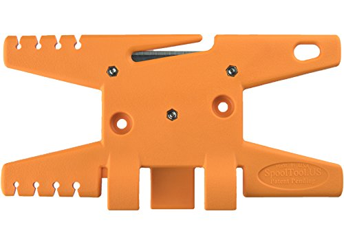 (TricornE: Spool Tool (Orange) - The Ultimate Paracord Tool for Your Bug Out Bag, Survival Kit or Paracord Crafts - Parachute Equipment - Holds up to 100' of Parachute Cord - Emergency Equipment)