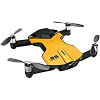 Wingsland S6 Drone Outdoor Edition 4K Pocket Drone (Yellow) + S6 Drone Battery