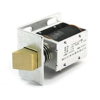 eDealMax 0.93A de movimiento lineal electroimán de solenoide, DC 12V, 3 mm /
