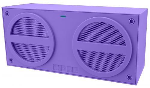 iHome iBT24 - Altavoz portátil con Bluetooth, color violeta