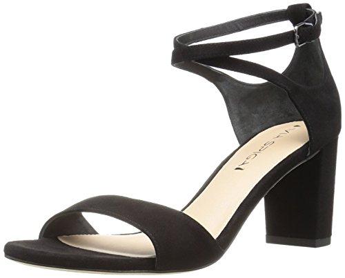 Via Spiga Women's Wendi Block Heel Dress Sandal, Black Suede, 8.5 M US by Via Spiga