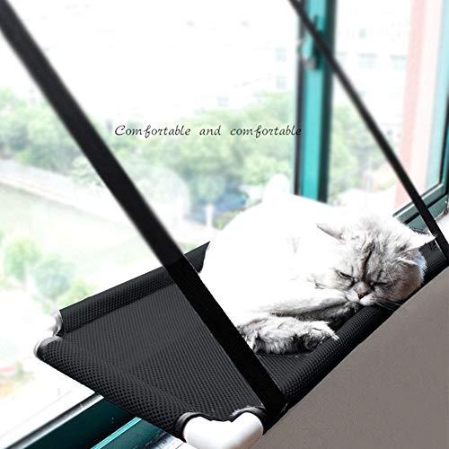 Haustier-Hängematte mit Saugnapf, leistungsstarkes Netzgewebe, langlebig, zur Befestigung an Fenstern, Katzenzubehör…