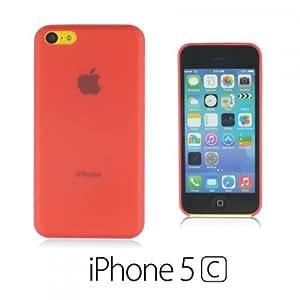 OnlineBestDigital - Ultra-Slim Colorful Transparent Case for Apple iPhone 5C - Red