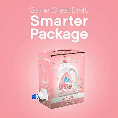 41uznmN7VGL. AC - Dreft Stage 1: Newborn, Ultra Concentrated Liquid Laundry Baby Detergent Eco-Box, HE Compatible, 105 Fl Oz, 96 Loads