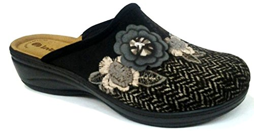 Inblu pantofole ciabatte invernali da donna art. LY-31 nero