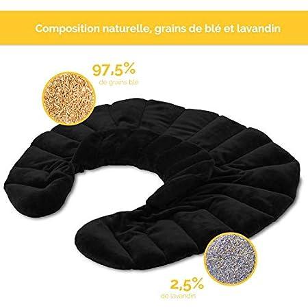 4 coloris Norme CE Vivezen /® Coussin chauffant tour de cou pour /épaule et nuque