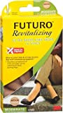 Futuro Revitalizing Ultra Sheer Knee Highs for Women Medium Nude Moderate Compression - 1 Pair, Pack of 5