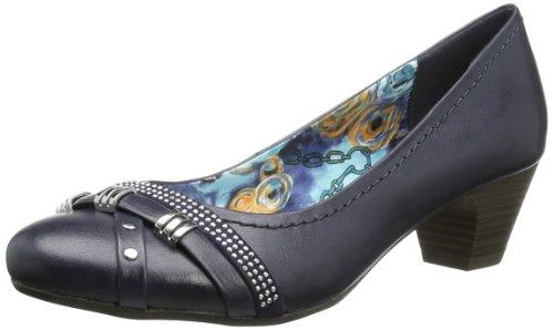 Marco Premio Vestir Bleu Navy 892 Tozzi Mujer De 2 2 Zapatos Antic Azul Charol 22 22312 r5rRq