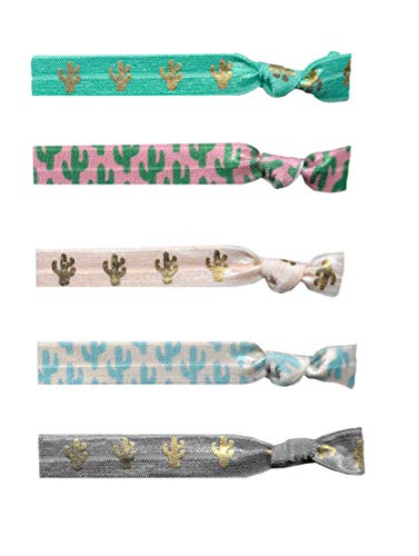 Bulk Hair Tie Party Favors (50 Hair Ties, Cactus)