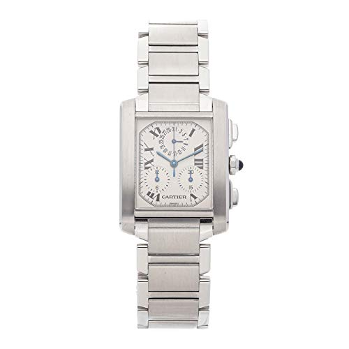 - Cartier Tank Francaise Quartz (Battery) Silver Dial Mens Watch W51001Q3 (Certified Pre-Owned)