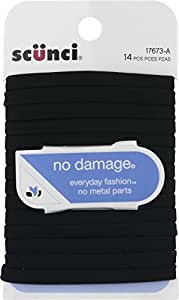 Scunci No Damage Hair Ties Black - 14 CT (3 Pack total of 42)