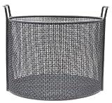 "14""Dia x 10""H Round Black Plastic Coated Plain Steel Mesh Basket"