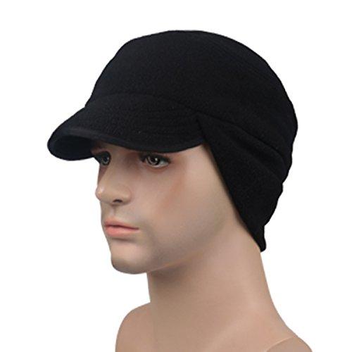 Surblue Outdoor Winter Warm Skull Cap Windproof Fleece Earflap Hat with Visor