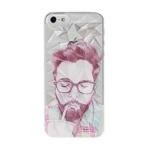 JOE Man Drink Cola Pattern Diamond Effect Plastic Hard Case for iPhone 5/5S