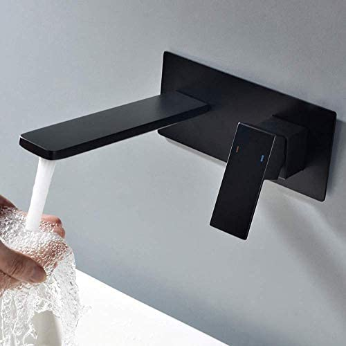 CHENBIN-BB 流域の蛇口洗面温水と冷水の蛇口ダークの中へザ・ウォールが事前に組み込まれた浴室浴室洗面台の蛇口ホテルホーム浴室用タップ