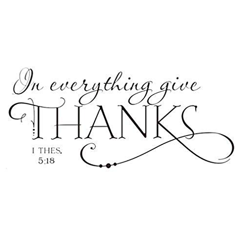 andy coolI THES in 5:18 Bible Thanksgiving Quote Art Vinyl Wall Sticker Decals Home Decor -
