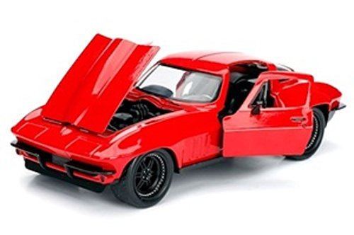 Fast & Furious 1:24 Letty's 1966 Chevy Corvette Die-cast Car, Toys for Kids and Adults 3