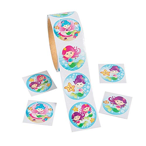 Fun Express Mermaid Stickers - 100 pc. Assorted