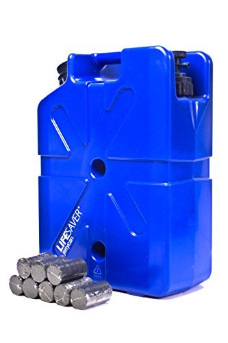 Water Filtration Filter Bottle Purifier kit for Camping Emergency prep Backpacking Hiking Outdoor System Travel Virus Bacteria & Cyst Removal with Pump 20,000 UF Jerrycan Activated Carbon Life Pack by Lifesaver