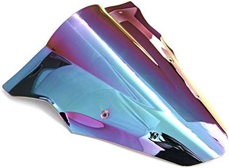 Iridium Motorrad Doppelte Blase Windschutzscheibe Windabweiser Motorrad Bildschirm Luftstrom F/ür Kawasaki Ninja 650 ER6F 2012-2016