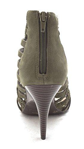 Womens Inc Verde Geenia Suede Casual Pino Con International Sandali Open Concepts Toe Cinturino 11qrfwWE