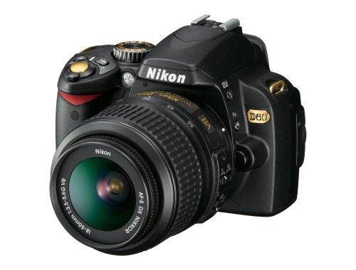Nikon D60 10.2MP Digital SLR Camera Black Gold Special Edition with 18-55mm f/3.5-5.6G AF-S DX VR Nikkor Zoom Lens (OLD MODEL)