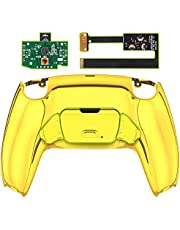 eXtremeRate Chrome Gold Back Paddles Programable Rise Remap Kit for PS5 Controller BDM-010, Upgrade Board & Redesigned Back Shell & Back Buttons Attachment for PS5 Controller - Controller NOT Included