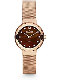 Women's 456SRR1 Leonora Rose Gold Mesh Watch