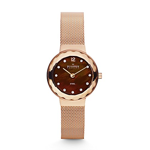 - Skagen Women's 456SRR1 Leonora Rose Gold Mesh Watch