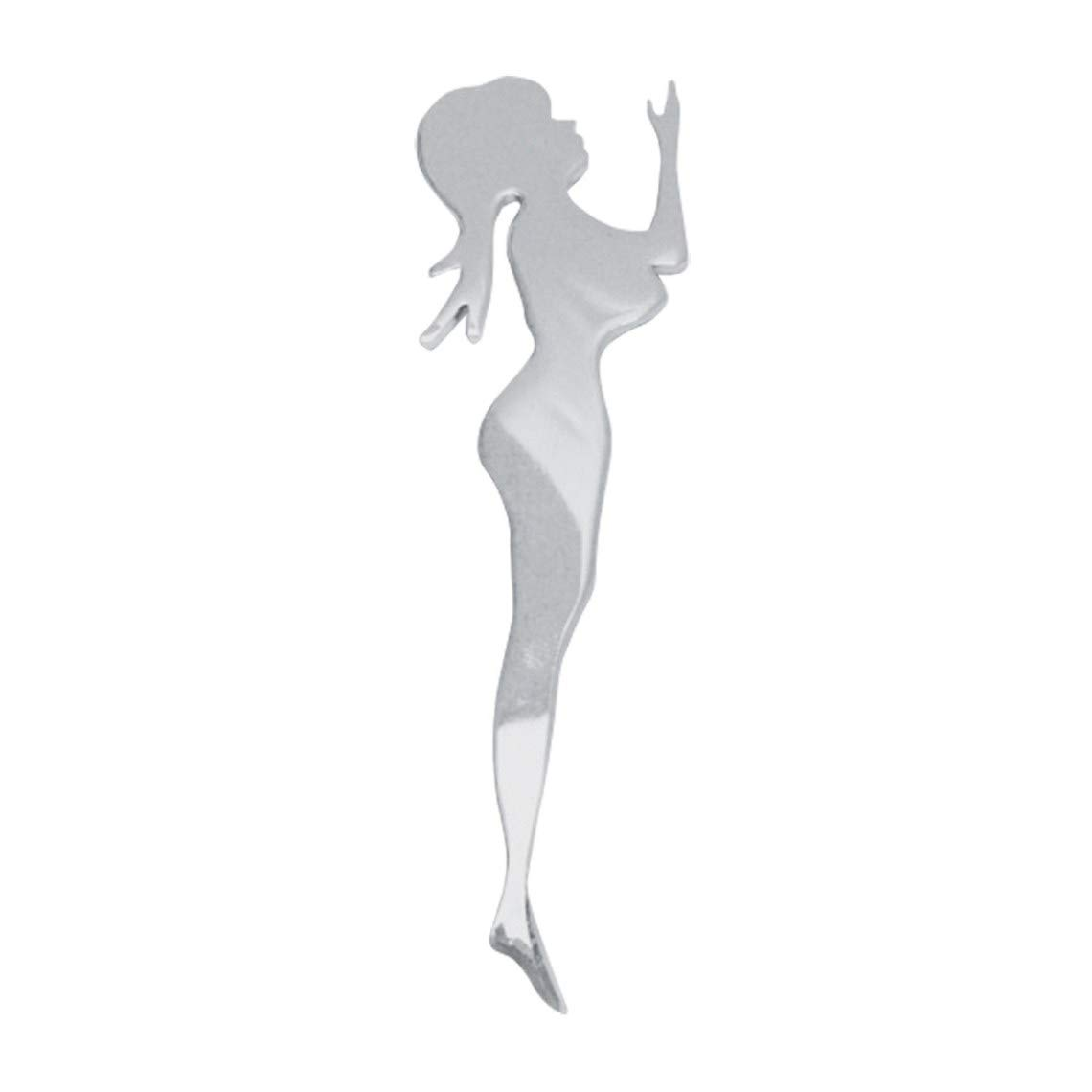 GG Grand General 90143 4-3//4 X 1-1//2 Inches Chrome Mini Standing Nude Lady Facing Left w//Adhesive Tape