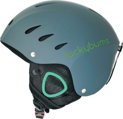 Lucky Bums Snow Sport Helmet for Skiing and Snowboarding (Matte Steel and Green, X-Large)