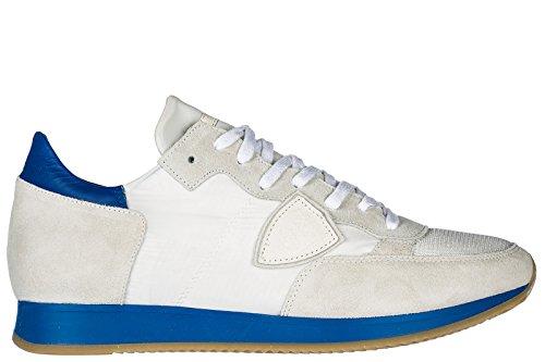 Philippe Model Herrenschuhe Herren Wildleder Sneakers Schuhe Tropez Weiß