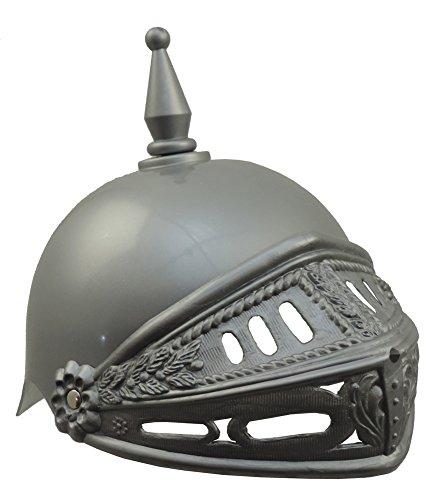 Adults Plastic Knight Medieval Crusader Costume Helmet