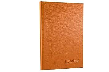 Quotus - Agenda telefónica de bolsillo de piel auténtica ...
