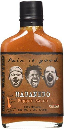 Pain Is Good Habanero Pepper Sauce, Hot, 7 -