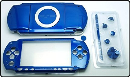 NEW Replacement Sony PSP 1000 Full Housing Shell Cover With Button Set -Blue.